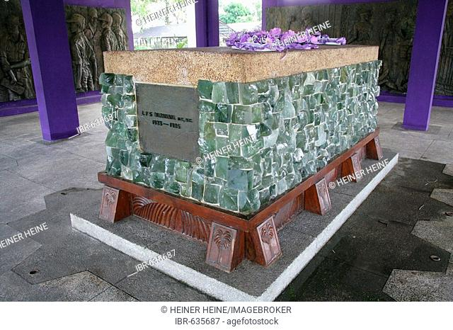 Modern sarcophagus at the Day of the Republic memorial in Georgetown, Guyana, South America