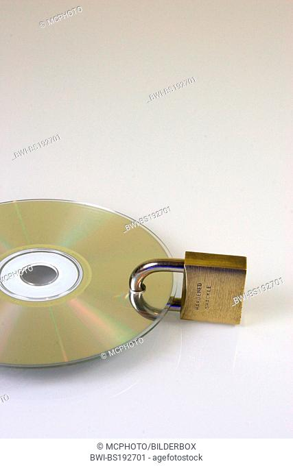 Symbol data security, CD ROM with lock