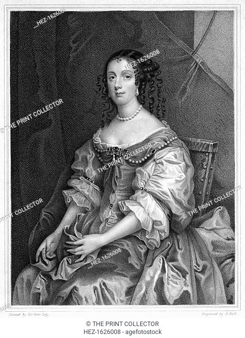 Catherine of Braganza, Queen Consort of King Charles II of England, (19th century). Catarina de Braganca (1638-1705) was the second surviving daughter of King...