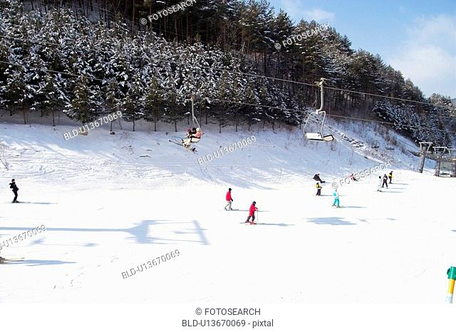 slope, lift, recreation, lifestyle, snow, winter
