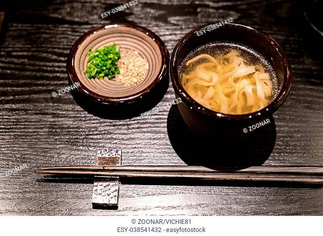 Kishimen udon noodles
