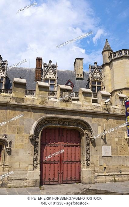 L'Hotel des Abbes de Cluny, with Cluny Museum, Sorbonne district, Left Bank, Paris, France