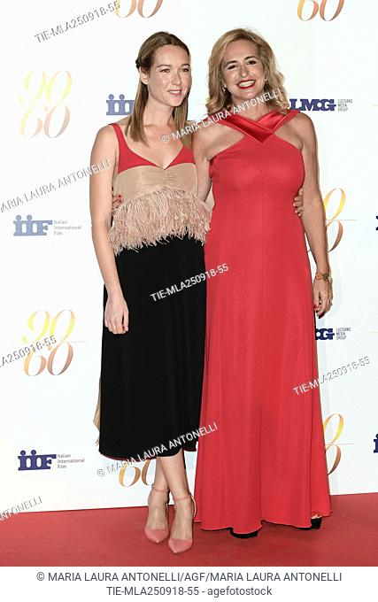 Cristiana Capotondi, Federica Lucisano during red carpet of 60/90 party, for 60 years of career and ninetieth birthday of Fulvio Lucisano, Italian Film Producer