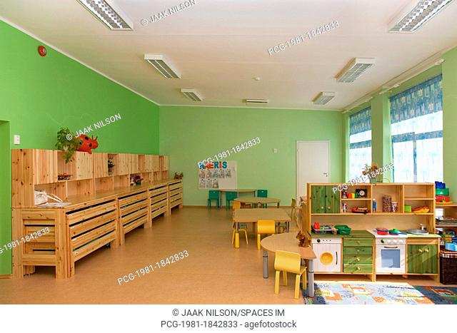 Empty Estonian Elementary Grade School