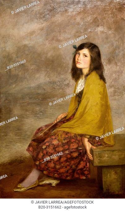 """""""Portrait of a Girl"""", c. 1910, Joan Brull, National Museum of Catalan Art, Museu Nacional d Art de Catalunya, MNAC, Barcelona, Spain, Europe"
