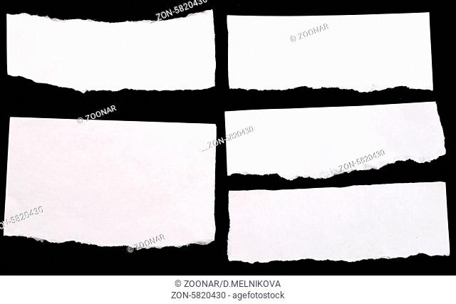 set of papers on black background