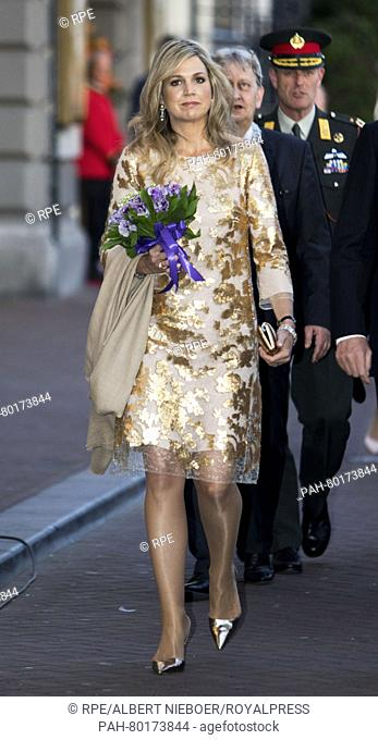 Amsterdam, 05-05-2016 HM Queen Máxima HM King Willem-Alexander and HM Queen Máxima attend in Amsterdam the liberation concert