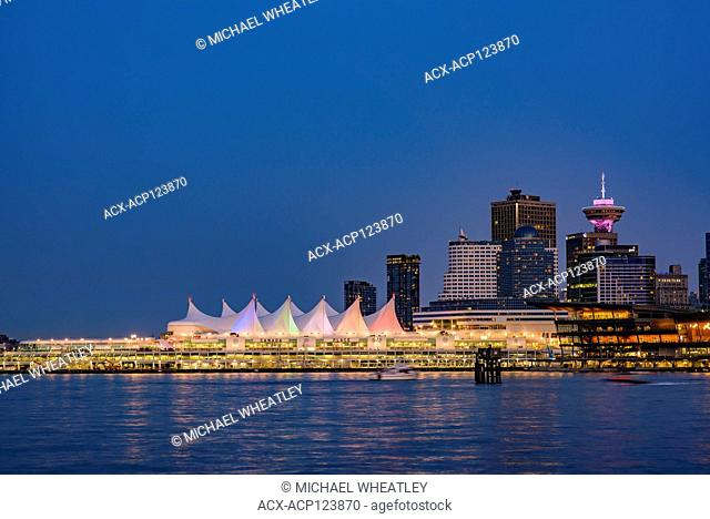 Downtown Vancouver skyline with Canada Place, Vancouver, British Columbia, Canada