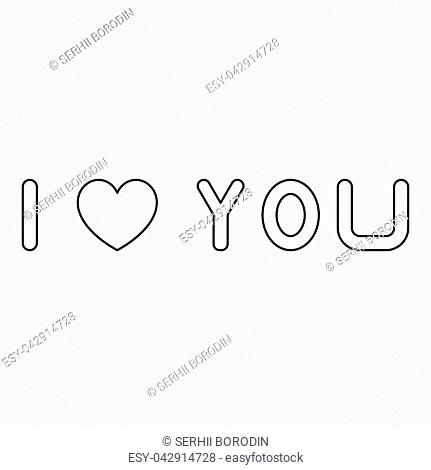 I love you it is the black color icon