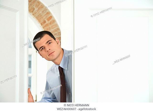 Businessman at Office Door