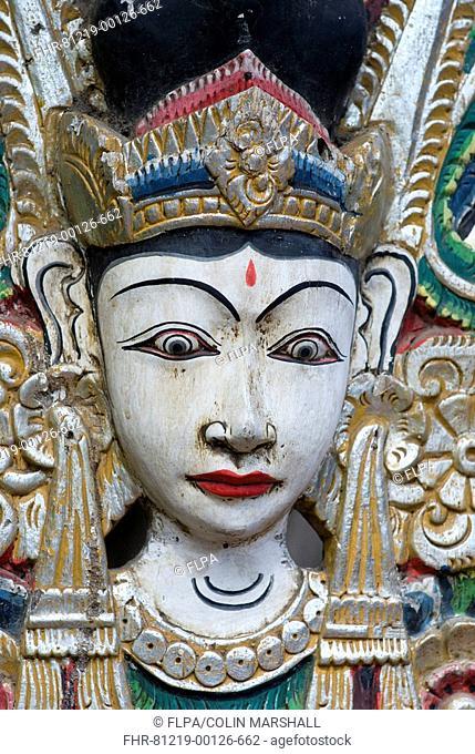 Indonesian Ramayana wooden mask, Bali, Lesser Sunda Islands, Indonesia