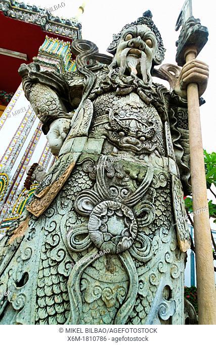 Stone giant  Wat Pho temple  Bangkok, Thailand