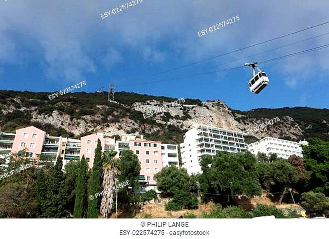 Cable car to the top of the rock in Gibraltar