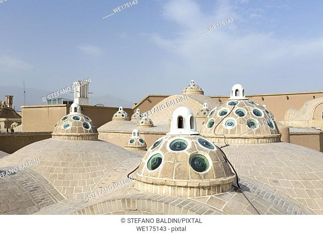 Roof of Sultan Mir Ahmed bathhouse, Kashan, Iran