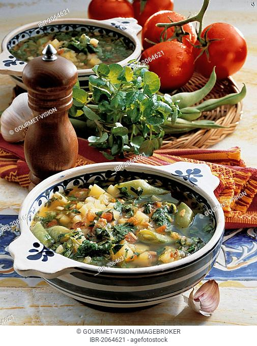Watercress soup, Spain