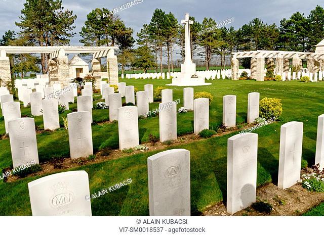 World War II, Bazenville's British cemetery, Calvados, Normandie, France