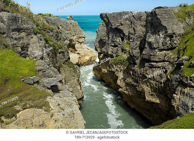 Pancake Rocks, Punakaiki, Paparoa National Park, South Island