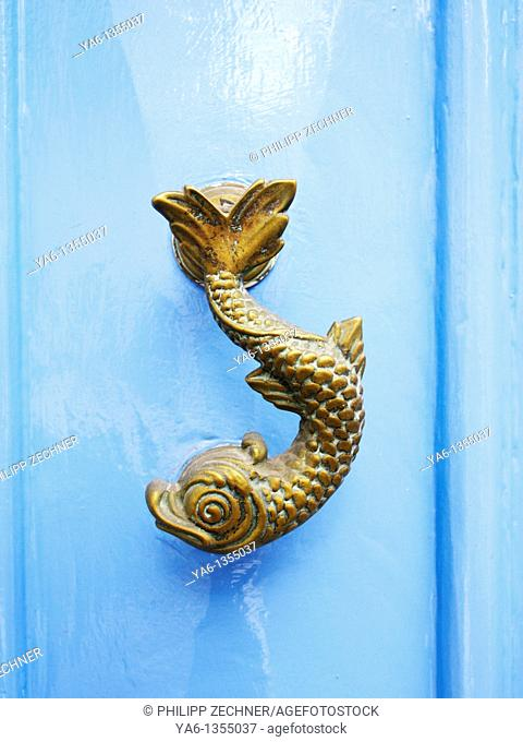 Traditional fish-shaped door knob in Malta
