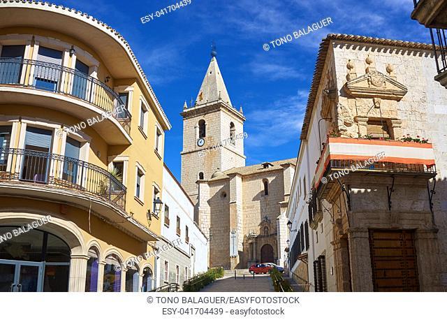 La Roda El Salvador church in Albacete at Castile La mancha of Spain
