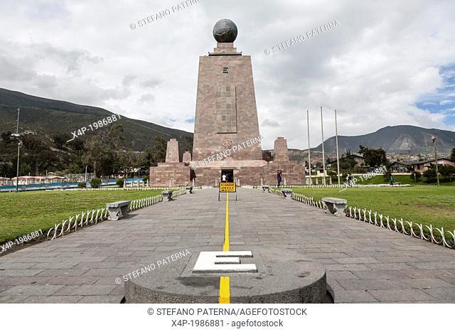 Mitad del Mundo, Monument, Marking the Equatorial Line, Near Quito, Ecuador