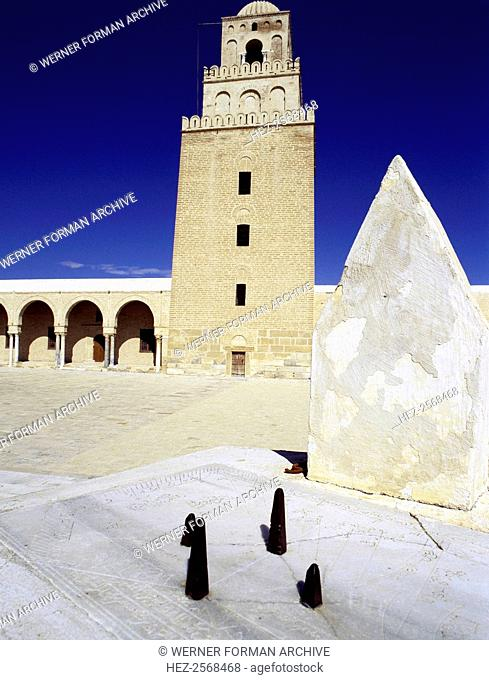 The courtyard of the Great Mosque at Kairouan, one of the oldest Islamic buildings and the first important one in North Africa