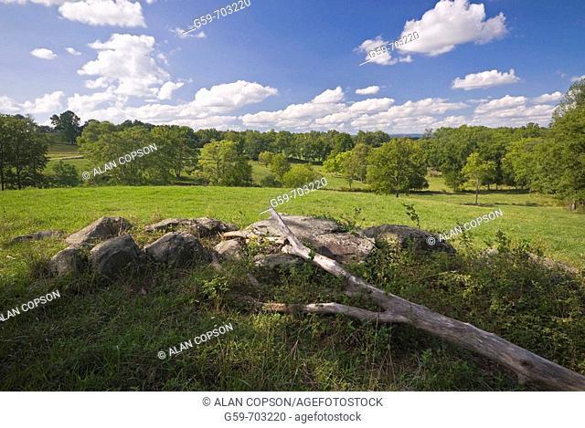 USA Pennsylvania Gettysburg. Towards East Cemetery Hill