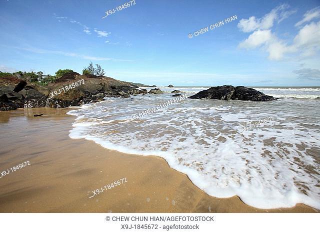 Scenery of Pandan Beach, Lundu, Sarawak, Malaysia, Borneo