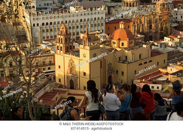Historic town of Guanajuato, Cathedral Nuestra Senhora de Guanajuato and the university at night, Province of Guanajuato, Mexico, UNESCO World Heritage Site