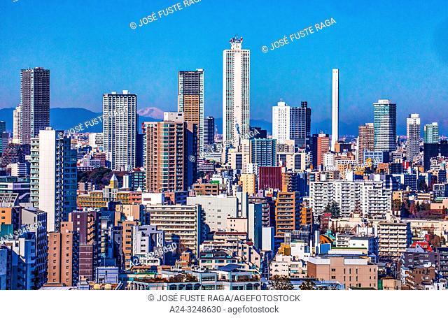 Japan, Tokyo City, Ikebukuro district skyline