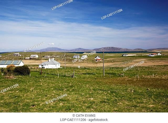 A view across the crofting landscape of the Cille Bharra area of Barra