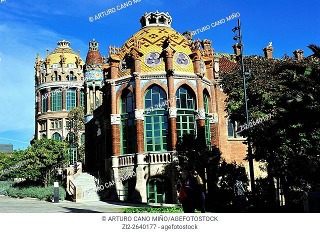 The former Hospital de la Santa Creu i Sant Pau (1901-1930, Modernist). Barcelona, Spain