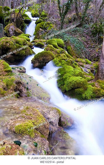 Rio Urederra in the Sierra de Urbasa. Navarra. Spain. Europe
