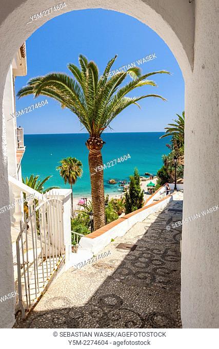 Balcon de Europa (Balcony of Europe), Nerja, Costa del Sol, Malaga province, Andalusia, Spain, Europe