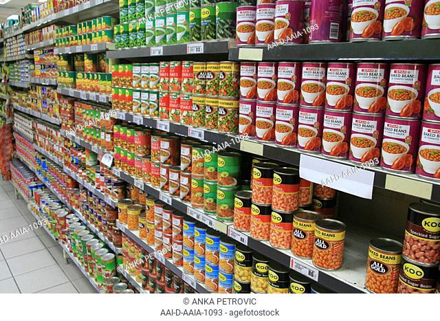 Canned foods, Noordwyk Spar, Midrand, South Africa