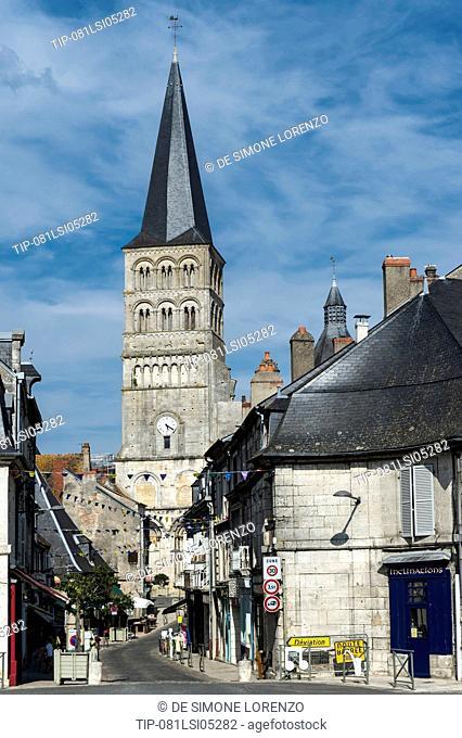 Europe, France, Nievre region, La Charite sur Loire, Notre Dame Cathedral