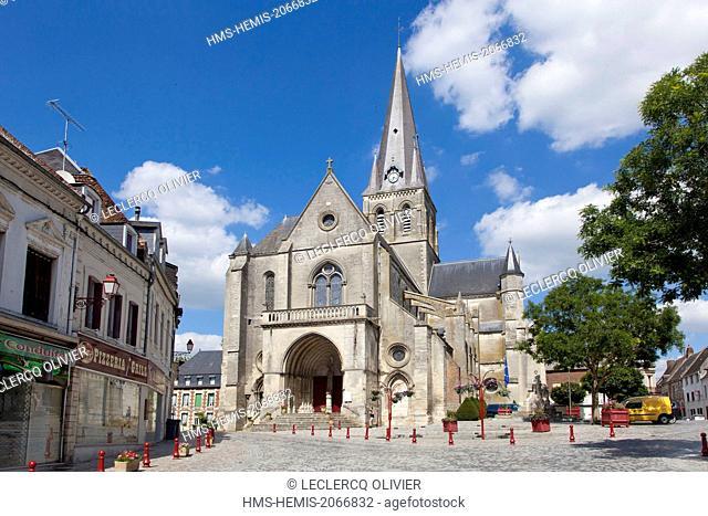 France, Aisne, Marle, Notre dame church
