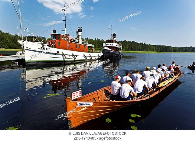 rowing a boat competition in sulkova in finland