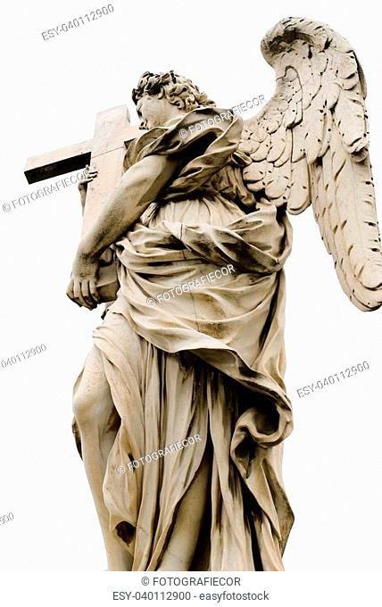Angel with the cross. Ponte Sant'Angelo, Aelian Bridge,Rome