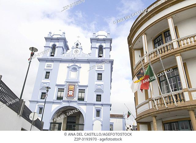 Angra do Heroismo is World Heritage site in Azores islands Portugal.Misericordia church