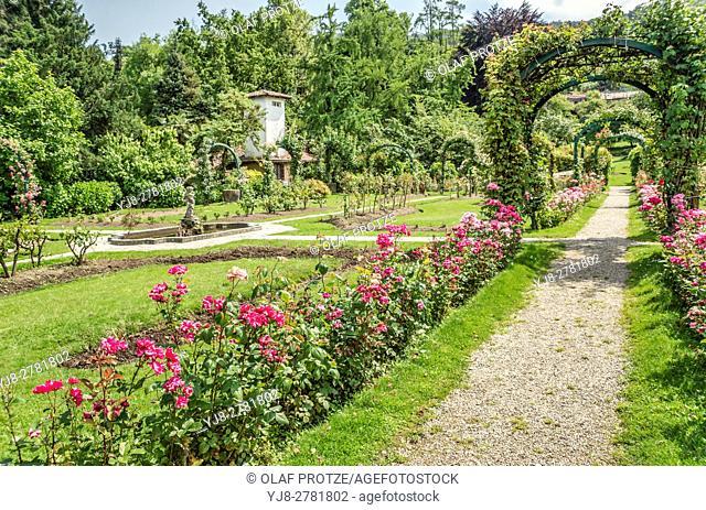 Park of Villa Pallavicino in Stresa at Lago Maggiore, Piemont, Italy