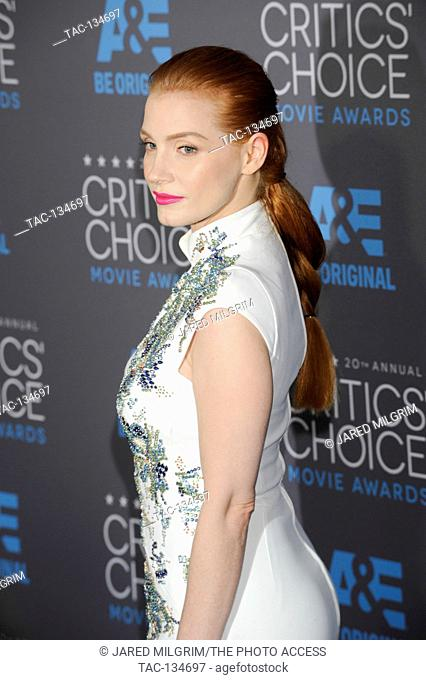 Jessica Chastain attends the 20th Critics' Choice Movie Awards at the Hollywood Palladium on January 15, 2015 in Hollywood, California