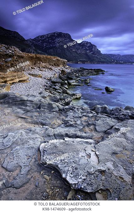 Es Calo, Coastal Colonia de Sant Pere Bahia de Alcudia Arta Llevant Peninsula Balearic Islands Mallorca Spain