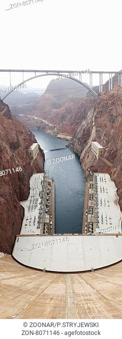 Hydroelectric Generators on the border of nevada and arizona , black canyon