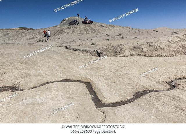 Azerbaijan, Qobustan, mud volcanoes and visitors, NR