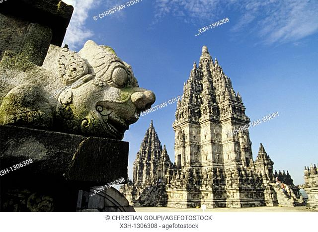 Shrine, Prambanan Hindu Temple compound in Java island, Greater Sunda Islands, Republic of Indonesia, Southeast Asia and Oceania