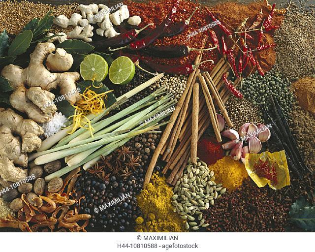 Asia, Assorted, Bay, Berries, Cardamom, Chili, Chilli, Cinnamon, Cloves, Condiments, Cooking, Cumin, Curcuma, Curry