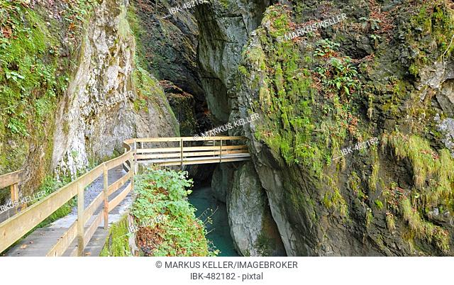 The entrance to the Alploch canyon - Dornbirn, Vorarlberg, Austria, Europe