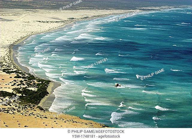 Aerial view over Head of Bight, Nullarbor Plain, South Australia