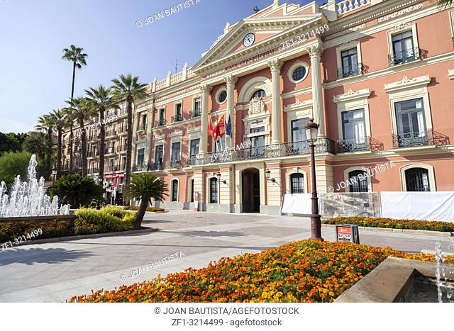 City Hall,Casa Consistorial,neoclassic building,Murcia,Spain