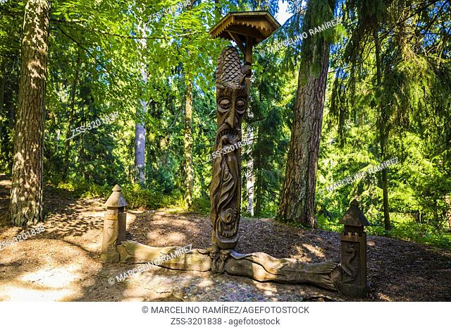 The Hill of Witches is an outdoor sculpture gallery near Juodkrante, Curonian Spit. Juodkrante, Neringa Municipality, Klaipeda County, Lithuania, Baltic states
